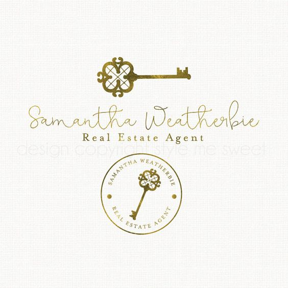 Realtor Logo Gold