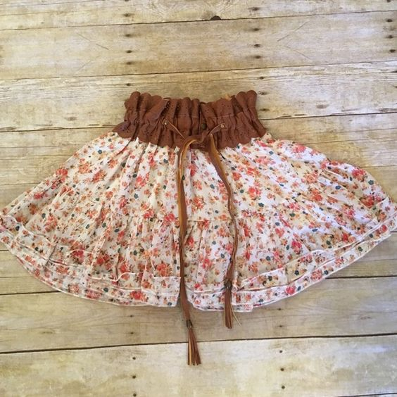 Paradise  Skirts - 💐Just In💐Super Cute Floral & Faux Leather Skirt