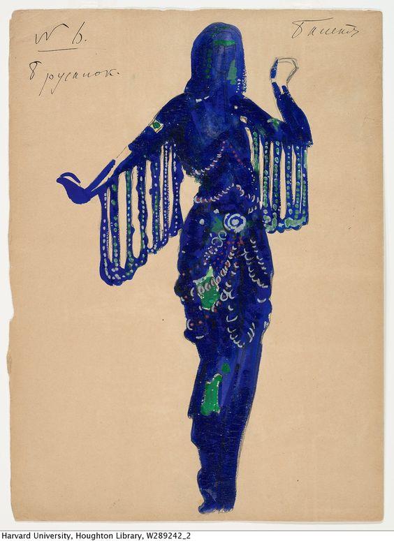 Costume design for Mermaids in Sea Kingdom scene by Boris Anisfeld for Sadko, 1911