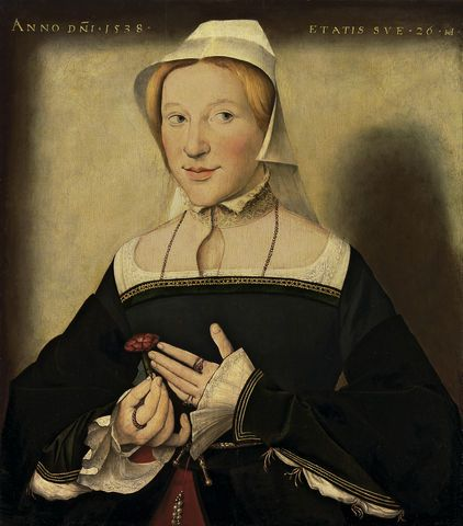 1538 Monogrammist H.W. - Portrait of a Young Woman: