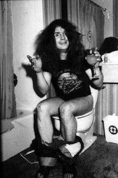 Ozzy Osbourne in bathroom  quot  is where kids smoke the first cigarettes or joints  hiding from parents and teachers  In schools it is often where they. Ozzy Osbourne in bathroom  quot  is where kids smoke the first