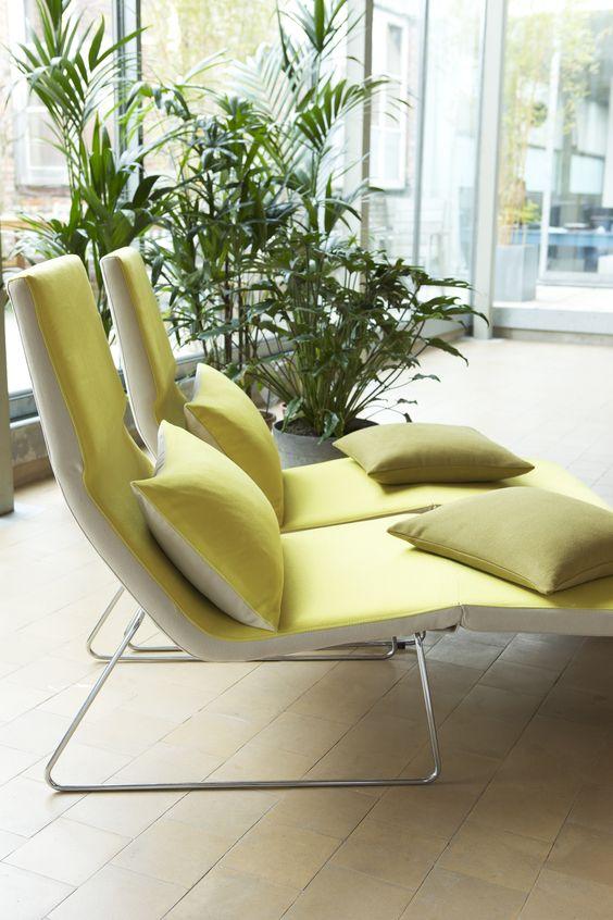 Lime Green Long Chairs #modern #furniture #homedecor