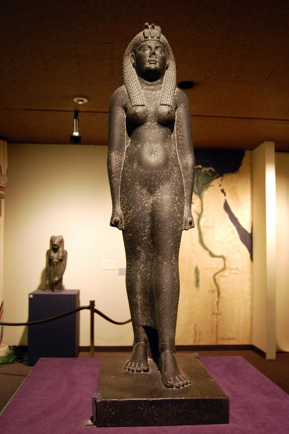 This statue is very rare. It is one of seven in the world identified as the most famous queen of Egypt: Cleopatra VII. Cleopatra VII was born in Macedonian family called the Ptolemies, who were famous for their vicious infighting. Matricide, patricide and fratricide were common in many generations, including Cleopatra VII's. She had several relatives killed so she might survive. For generations the Romans coveted Egypt, a bountiful sours of grain they could use to feed their army. Th...