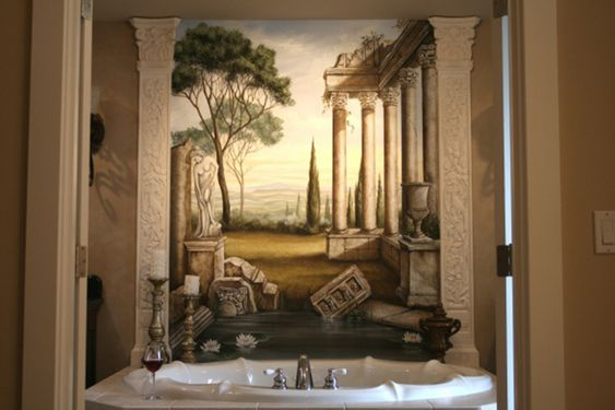 Room ideas blog and style on pinterest for Roman bathroom designs