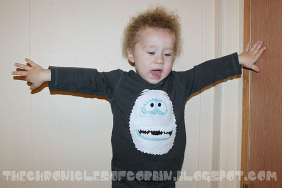 50 DIY Days... Day 18: Bumble the Snow Monster T-shirt