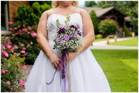 purple wedding bouquet : purple roses