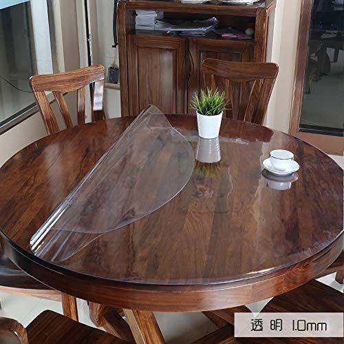 Transparent Pvc Table Protection Nappe Plastique Vinyle Lavable Circulaire Impermeable A Manger Nappe De Table Table Transparente Nappe Plastique Transparente