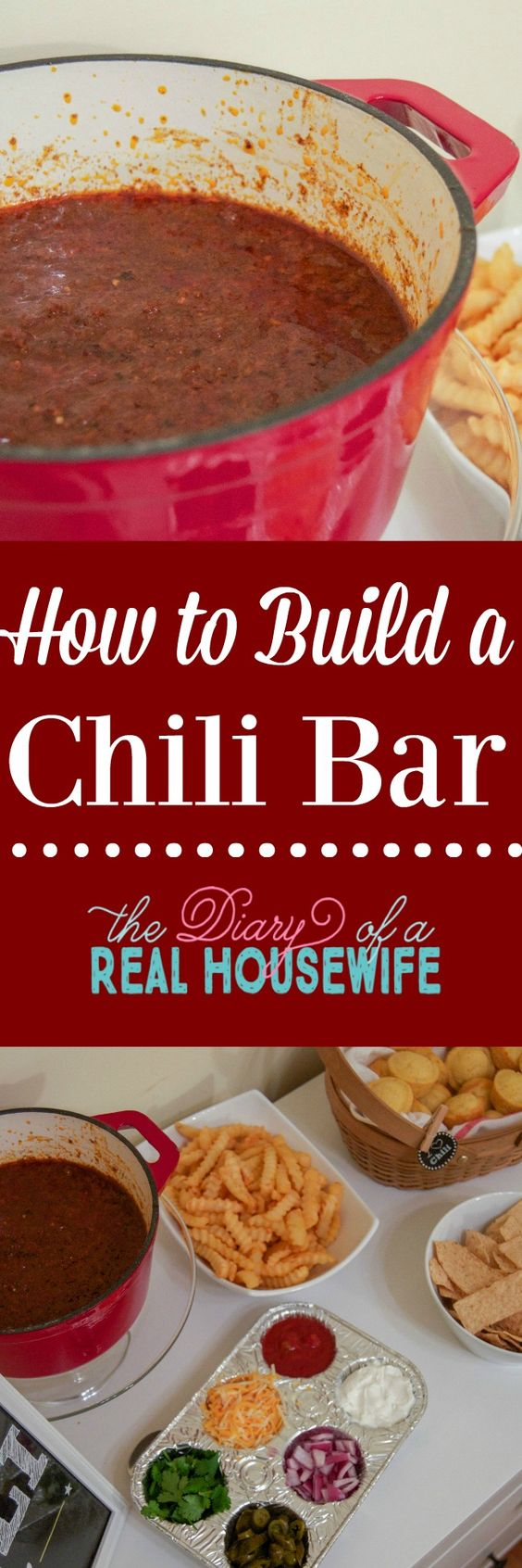 How to build an awesome chili bar! With FREE PRINTABLE to make your chili bar look awesome.