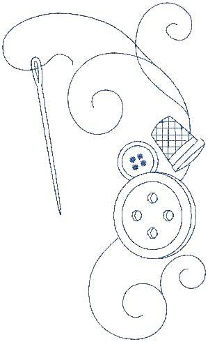 Bordado dedal y aguja