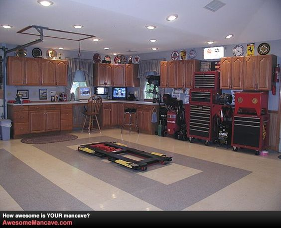 Man Cave Betekenis : Awesome garage workshops