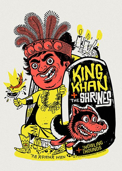 GigPosters.com - Howling Hounds, The - King Khan And The Shrines