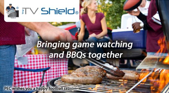 What can you do to surprise your family this game season? Bring the TV outdoors with The TV Shield.  Happy Game Watching everyone!   http://www.thetvshield.com/ #Football #TheTVShield #TV #BBQ
