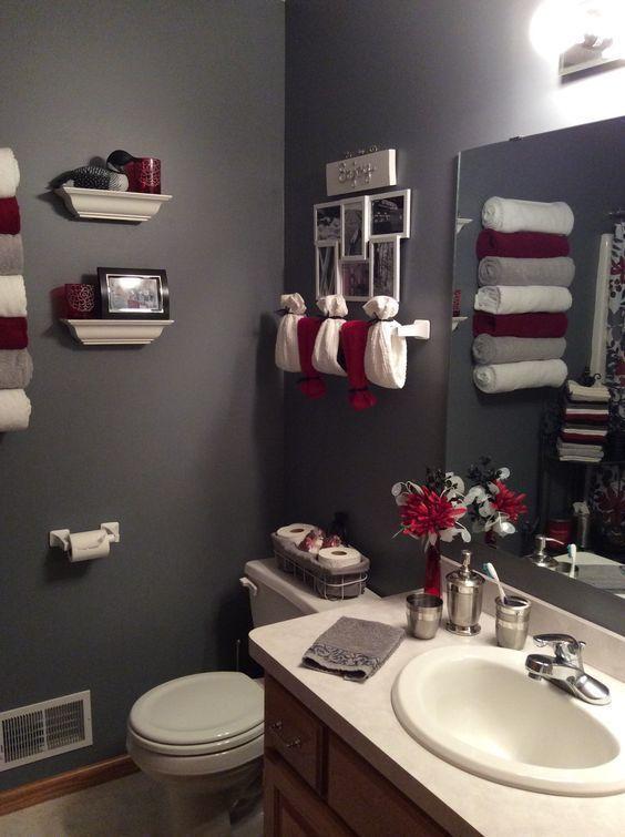 Bathroom Color Ideas Best Paint And Color Schemes For Bathroom Bathroom Red Restroom Decor Red Bathroom Decor