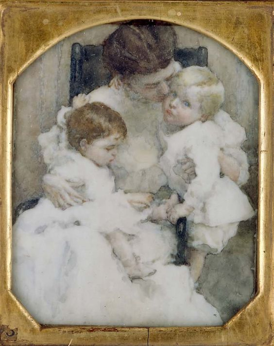 1908 Mrs. W. T. Forbes and Children ~  Lucy May Stanton ~  (1876 – 1931)