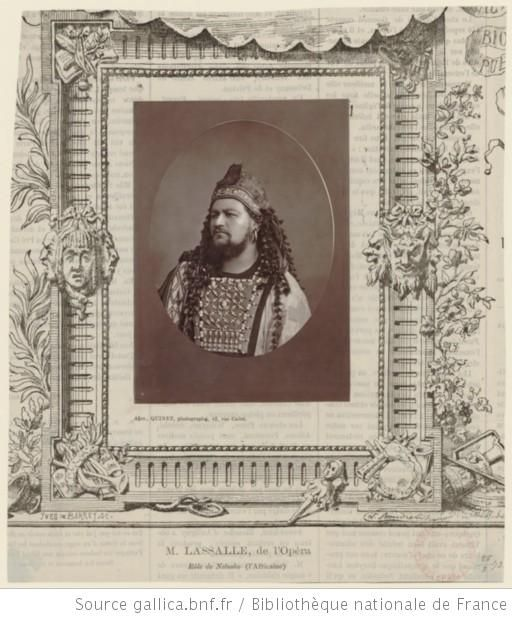 M. Lassalle, de l'Opéra, rôle de Nelusko dans---Hannibal