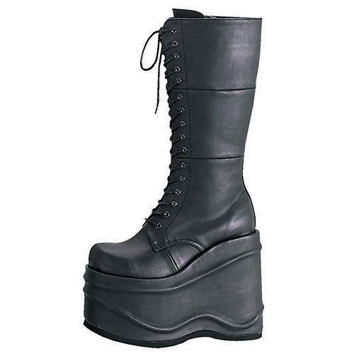 Amazon.com: Women's Lace Up Goth Punk Ankle Platform Boots ...