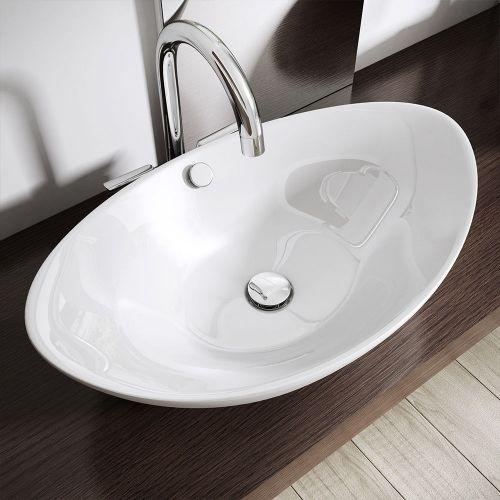 Basong Waschbecken Aufsatzwaschbecken H/ängewaschbecken Waschtisch Handwaschbecken Nano-Beschichtung aus Keramik