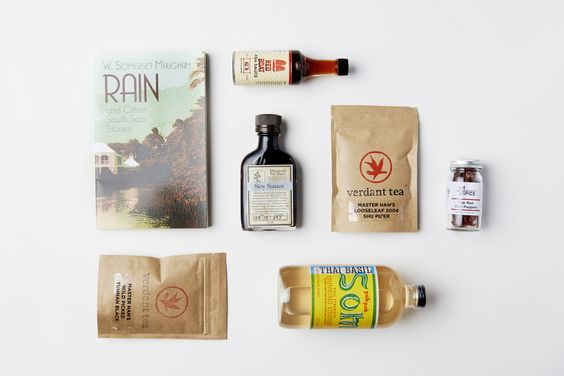 Asian Food Box | Quarterly * Drinking Vinegar by PokPokSom     * Soy Sauce by Bourbon Barrel     * Rain & Other South Sea Stories (book)     * Verdant Tea     * Personal Recipe Card     * Red Boat Fish Sauce     * Asian Chile Peppers