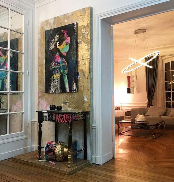 Paroi et tableau chez un collectionneur � Paris??