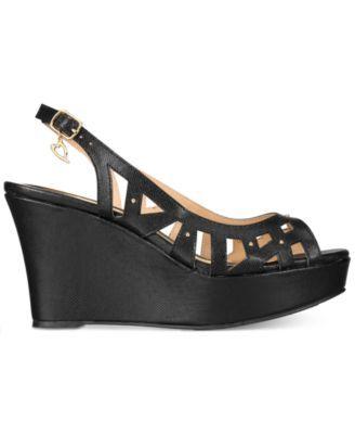 Thalia Sodi Ebbie Platform Wedge Sandals, Only at Macy