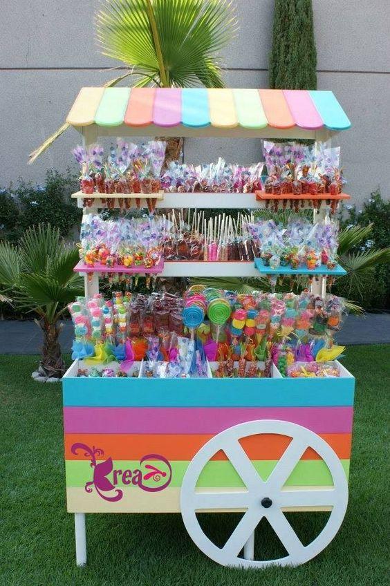 Revistas Decoracion Kiosco ~ carrito de dulces  Cumplea?os infantiles  Pinterest