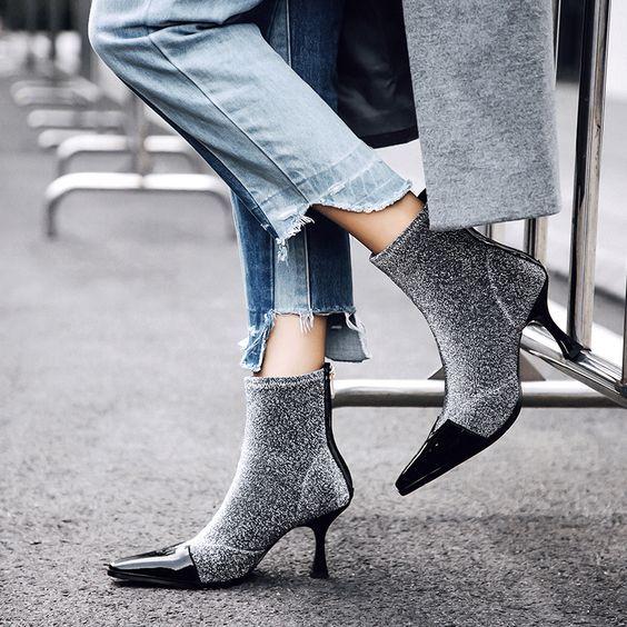 Chiko Bryon Kitten Heels Sock Ankle Boots Sock Ankle Boots Boots Socks Heels