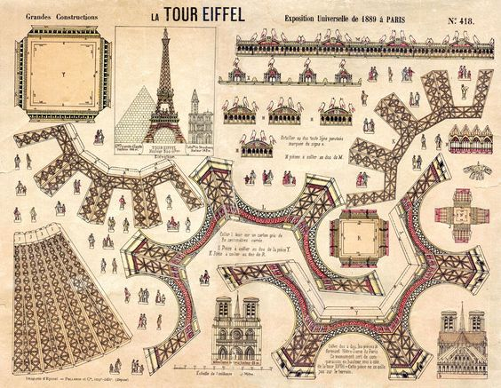 eiffel tower model template - eiffel tower paper model to print out papierknutsels 3