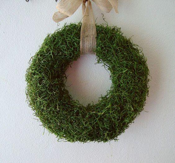 moss wreath - etsy
