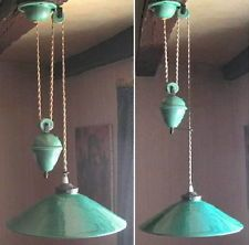 vintage french rewired ceramic rise and fall pulley light terre d 39 hautaniboul luscious. Black Bedroom Furniture Sets. Home Design Ideas