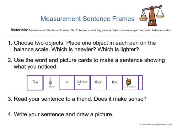 Kindergarten Measurement And Data Measurement Kindergarten Math
