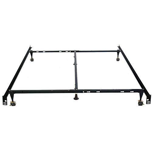 Metal Bed Frame Adjustable Width Queen Full Twin Size Bedroom