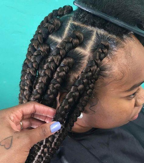 Pin By Zara Noble On B L A C K H A I R In 2020 Braided Hairstyles Braids For Black Hair Natural Hair Styles