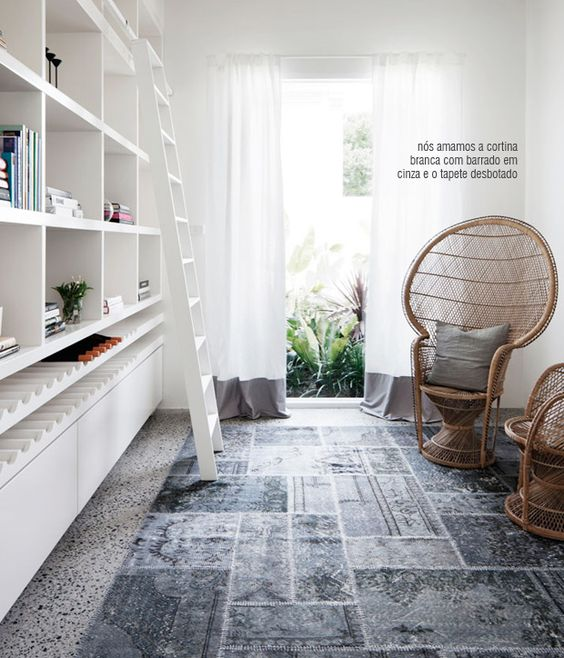 A space for reading, with lots of natural light.