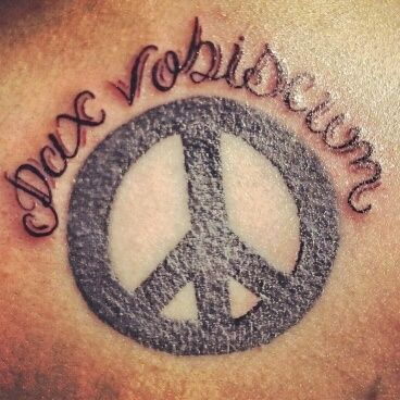 pax vobiscum, peace be with you all in latin :) #tattoo #peace