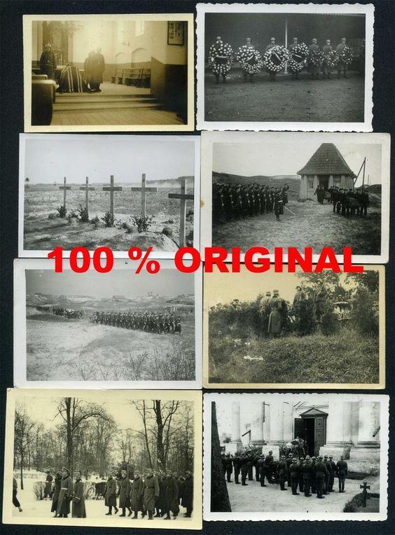 8 x orig. WK2 FOTO KONVOLUT - GRÄBER - BEERDIGUNG AN DER FRONT - WEHRMACHT