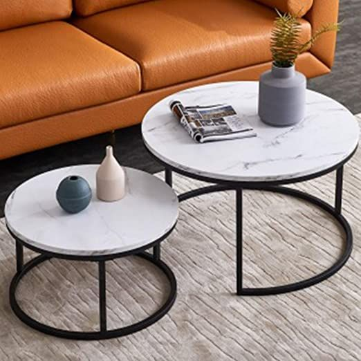 Coffee Table Nesting Side End Table Set Of 2 Living Room Furniture Mid Century Modern Decor Modern Coffee Table Sets Nesting Coffee Tables Coffee Table Setting
