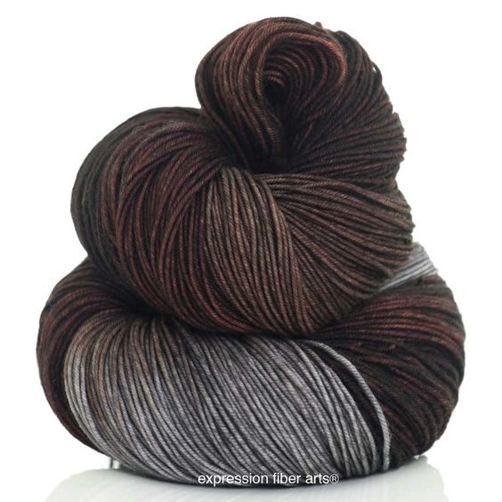 Expression Fiber Arts - DARK ROAST 'RESILIENT' SUPERWASH MERINO SOCK, $24.00 (http://www.expressionfiberarts.com/products/dark-roast-resilient-superwash-merino-sock.html)