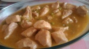 solomillo con salsa de cebolla