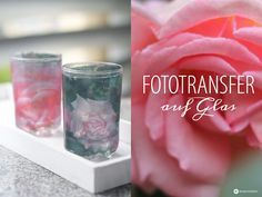 Fototransfer auf Glas – DIY Windlichter