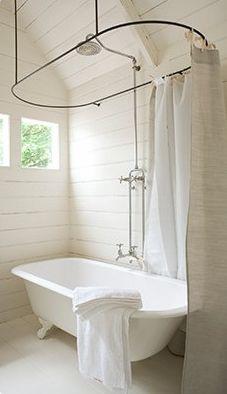 Shower Curtain Rails For Roll Top Bath Savae Org
