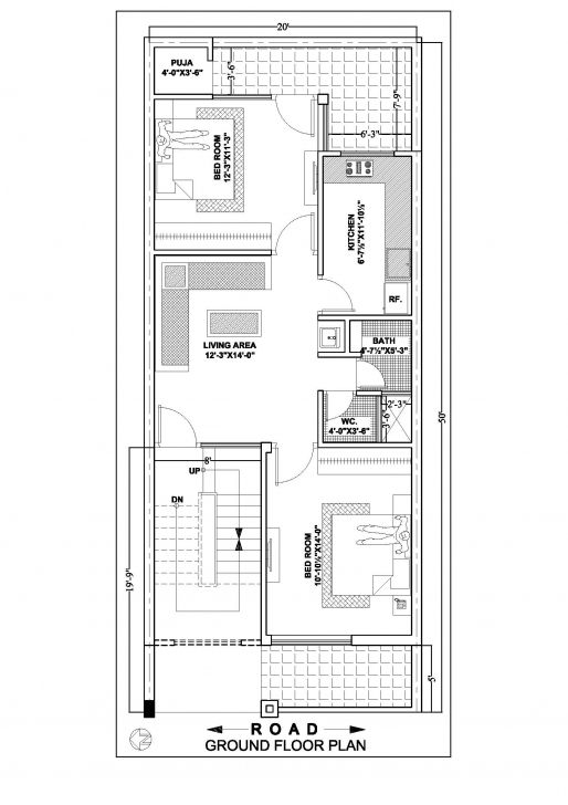 Popular 20 50 House Floor Plan According To East South North West Side 20 X 50 House Plans West Facing 20x40 House Plans Narrow House Plans Duplex House Plans
