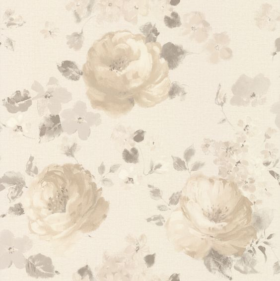 Rose Floral Beige wallpaper by Albany