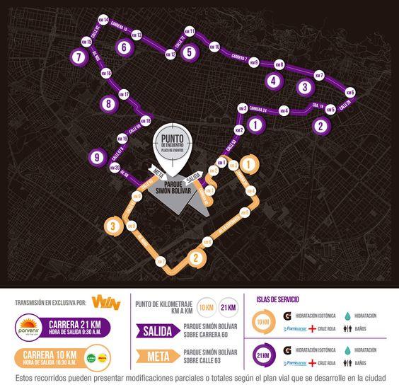media maratón de Bogotá // La Carrera de Colombia 26/07/2015