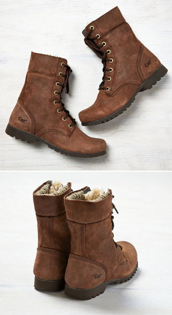 Brown Boots - they're fuzzy inside! Need something like this for tramping around.