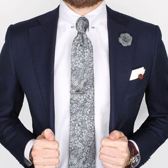 Herringbone grey and shirts on pinterest for Tie bar collar shirt