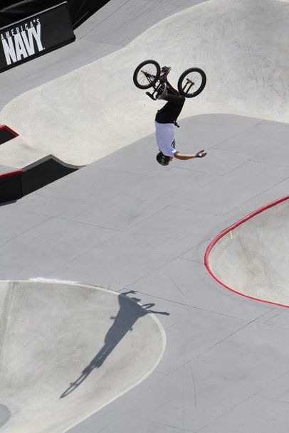 Chase Hawk getting upside down, #bmx, find bmx spots at http://youspots.com