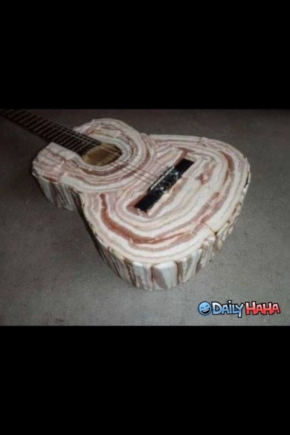 A bacon guitar.