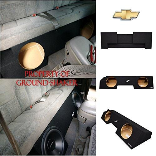 Chevy Silverado Gmc Sierra Extended Cab 1988 1998 10 Dual Sealed Sub Box Chevy Silverado Subwoofer Box Design Custom Subwoofer Box