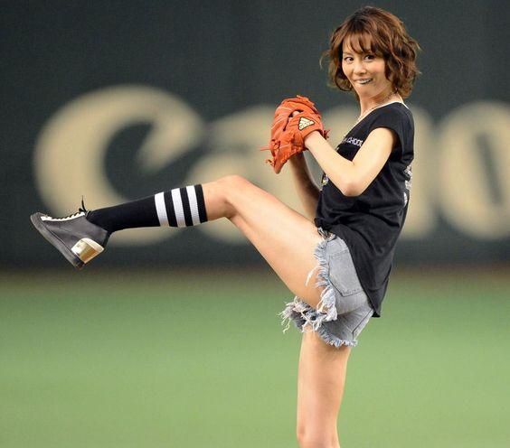 米倉涼子の始球式