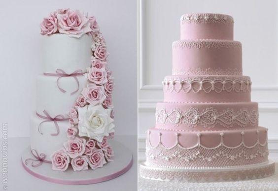Pasteles de bodas de Atelier Sucrème y de Martha Stewart